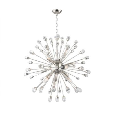 12-Light Nickel Sputnik Chandelier
