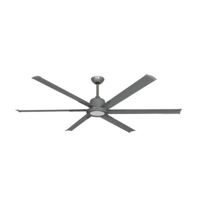 Titan II 72 in. LED Indoor/Outdoor Brushed Nickel Ceiling Fan with Remote Control