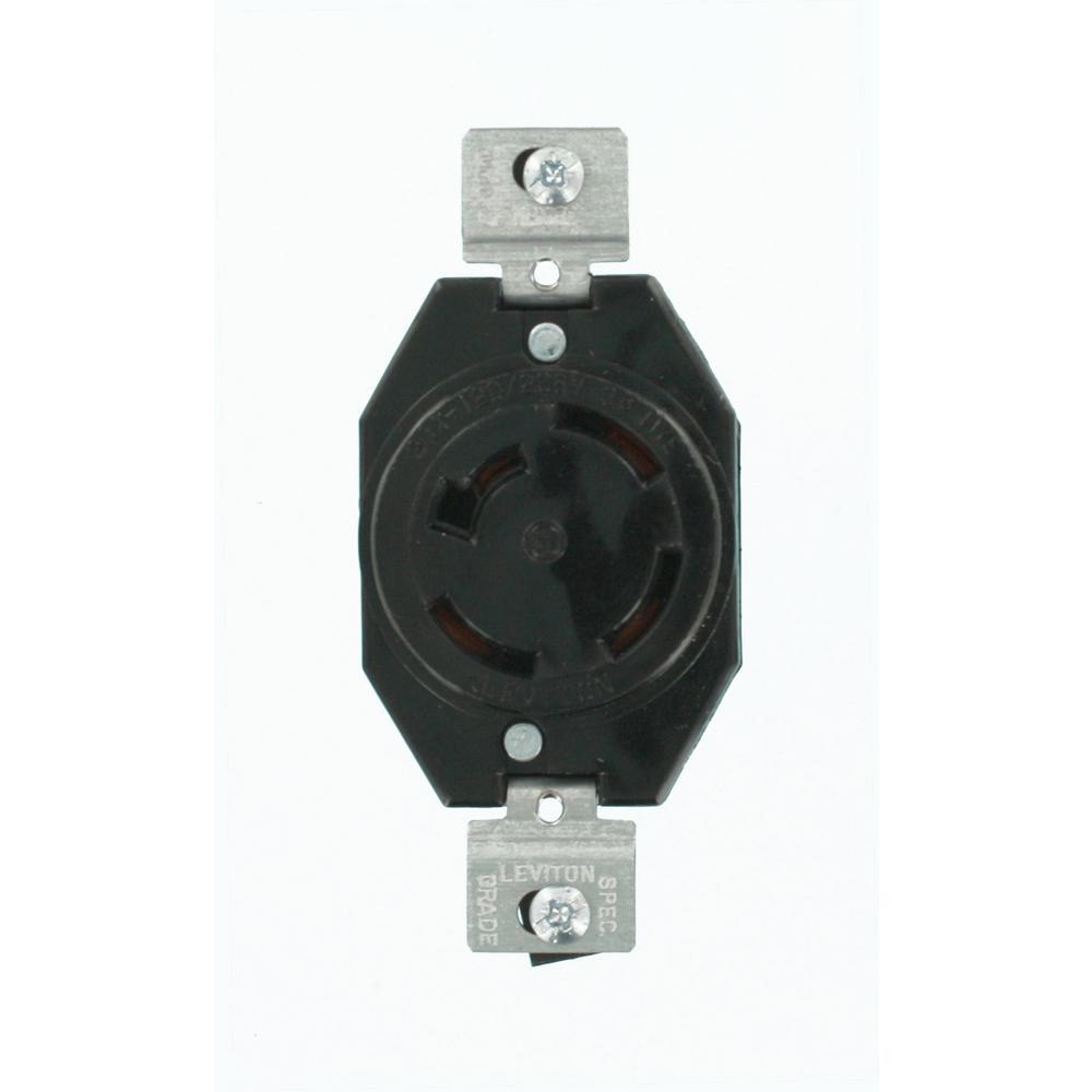 Leviton 20 Amp 120/208-Volt 3-Phase Flush Mounting Non-Grounding ...