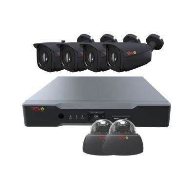 Aero HD 8-Channel 5MP 2TB Surveillance System with 6 Wired Cameras
