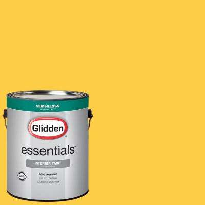 1 gal. #HDGY41D Festival Yellow Semi-Gloss Interior Paint
