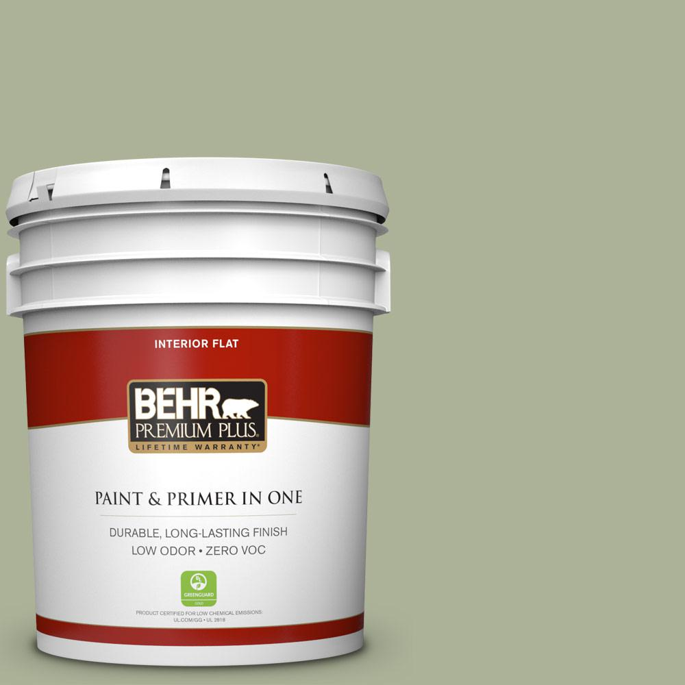 BEHR Premium Plus Home Decorators Collection 5 gal. #HDC-CT-28 Cottage Hill Flat Zero VOC Interior Paint and Primer in One