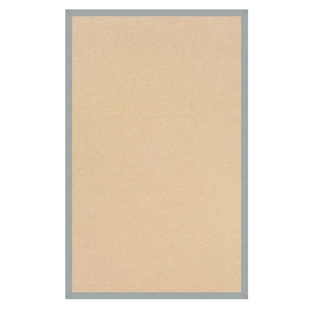 Linon Home Decor Athena Natural And Ice Blue 5 Ft. X 8 Ft. Area