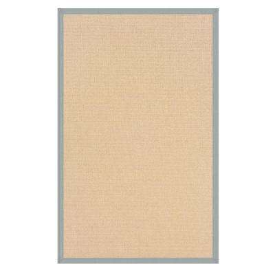 Athena Natural and Ice Blue 5 ft. x 8 ft. Area Rug