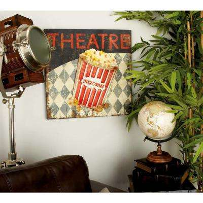 "20 in. x 20 in. Nostalgia Inspired Mid-Century ""Theatre"" Wall Art"