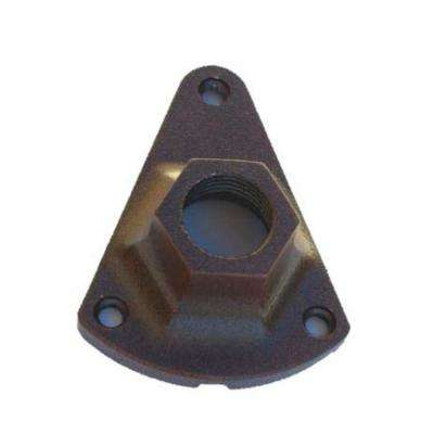 Triangle Base Mounting Bracket for Low Voltage Outdoor Landscape Lighting Fixtures in Rust