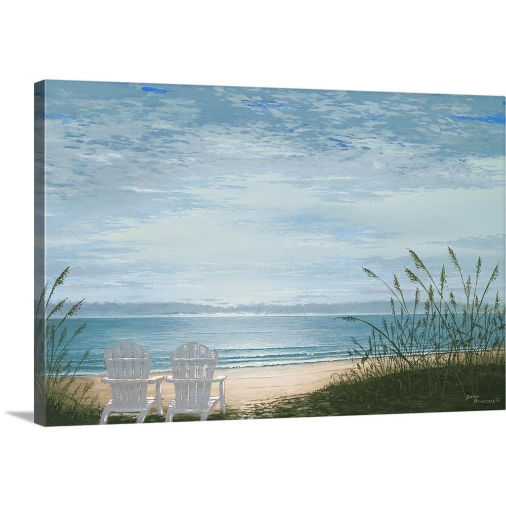 Beach Chairs By Bruce Nawrocke Canvas Wall Art