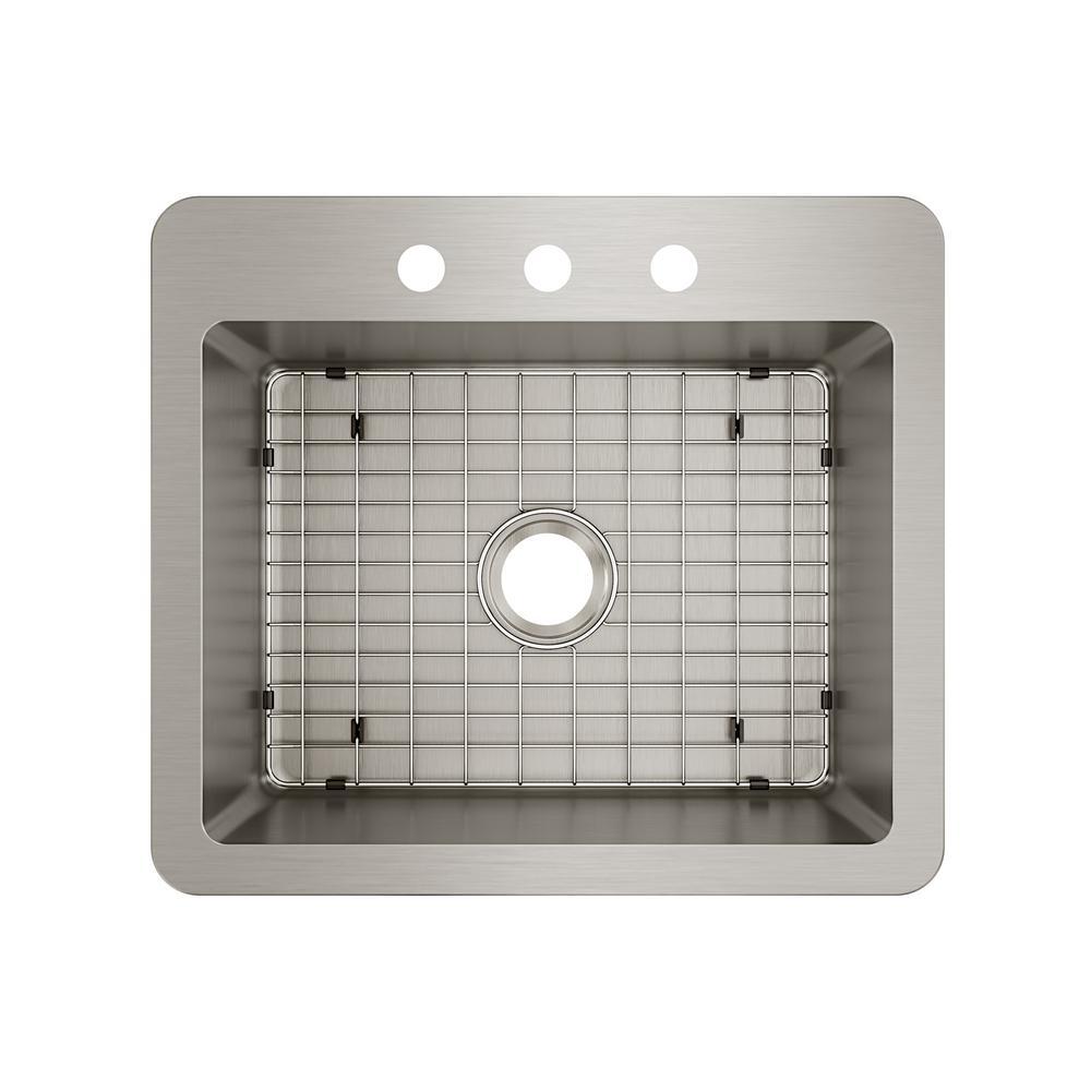Elkay Avenue Stainless Steel Drop-In/Undermount 25 in. Single Bowl Kitchen Sink with Bottom Grid