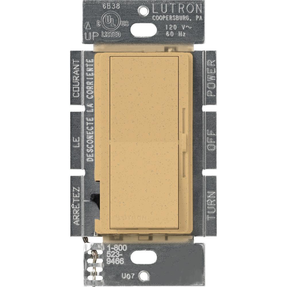 Lutron Diva 1000-Watt Single-Pole Preset Dimmer, Goldstone