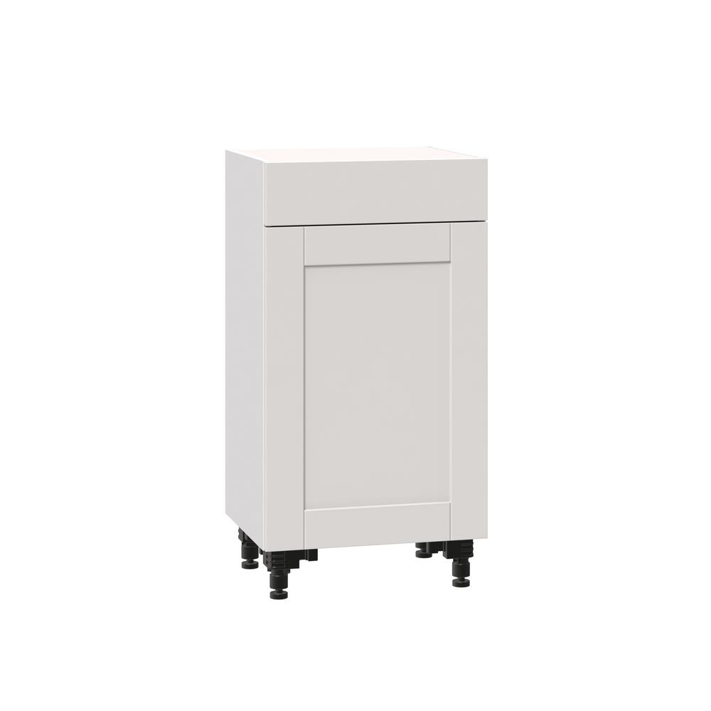 J Collection Shaker Assembled 18x34 5x14 In Shallow Base Cabinet