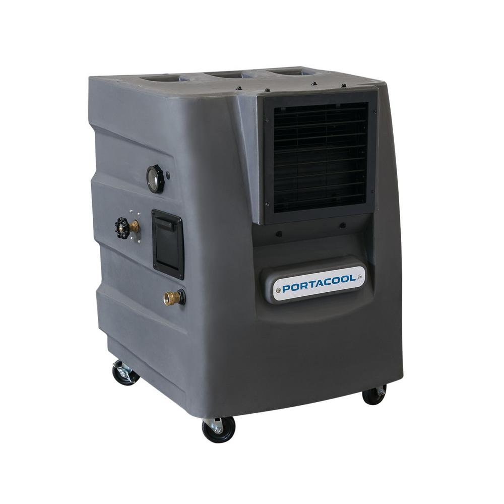 Portable Evaporative Coolers Home Depot : Portacool cyclone cfm speed portable