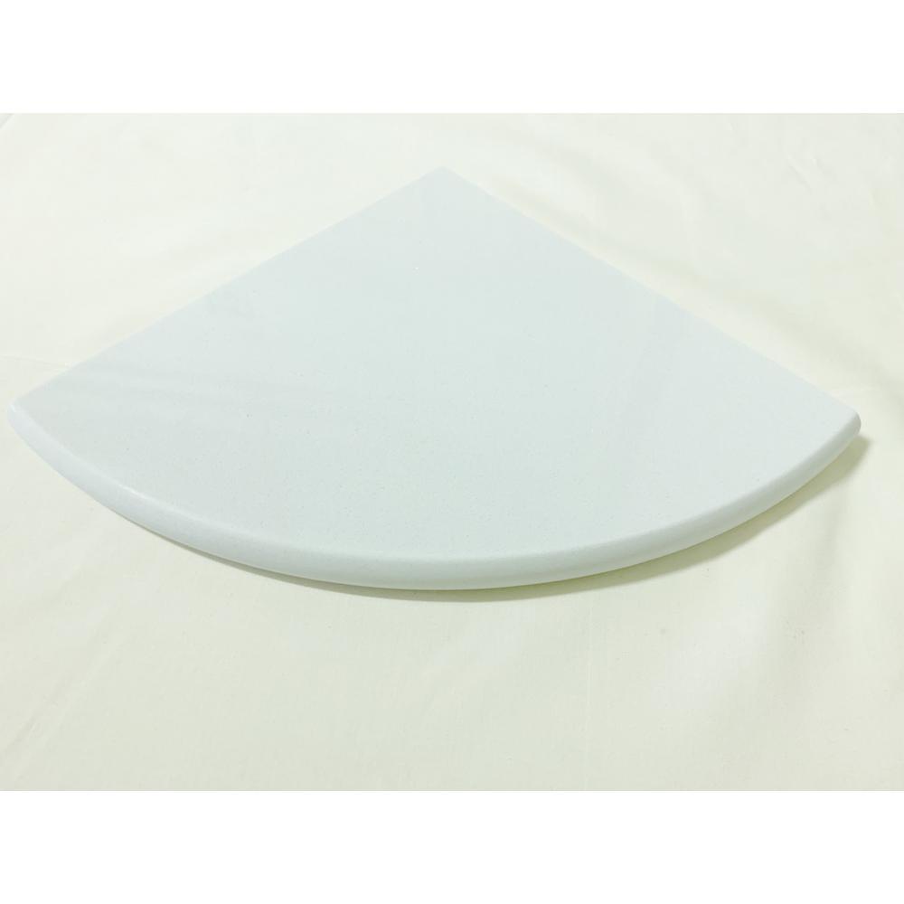 Rosa Bianca Penna White Engineered Marble 9 In X 19mm Polished Corner Shelf Tile 0 56 Sq Ft