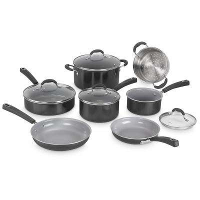 ADVANTAGE CERAMICA XT NON-STICK 11-Piece Black Cookware Set