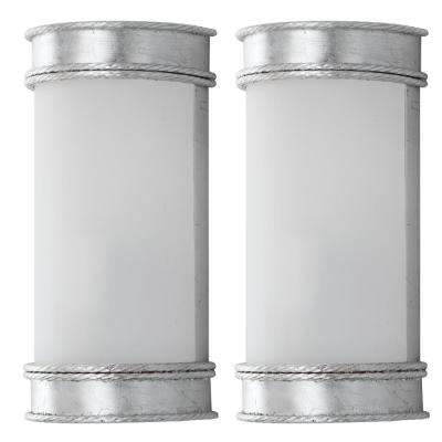 Florence 2-Light Silver Wall Sconce (Set of 2)