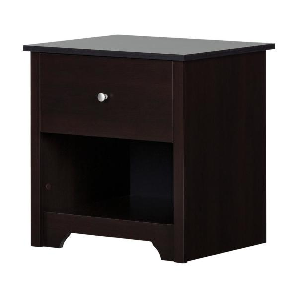 Vito 1-Drawer Nightstand in Chocolate