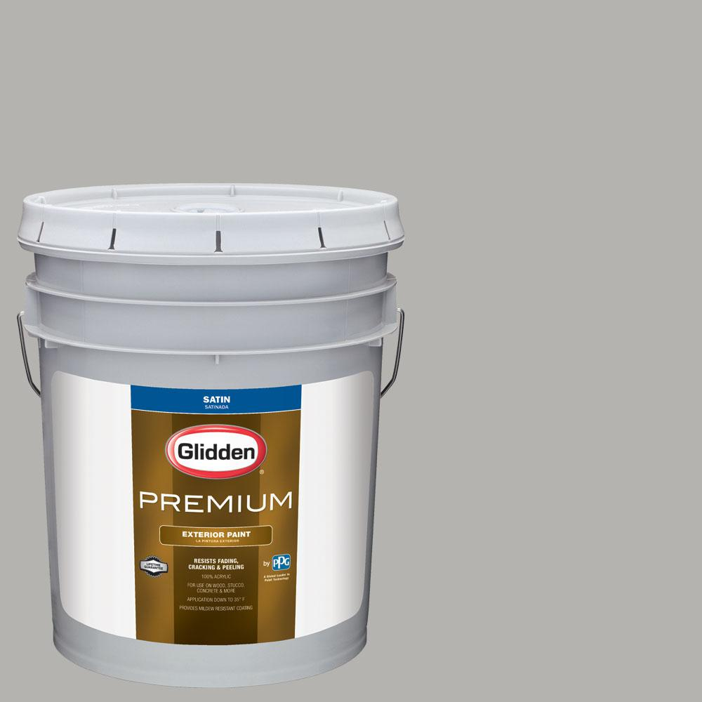 Exterior Paint Colors Home Depot: Glidden Premium 5 Gal. #NBA-105H Phoenix Suns Light Gray