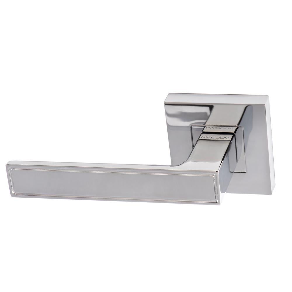 Lisbon Contemporary Polished Chrome Dummy Door Lever Handle Set