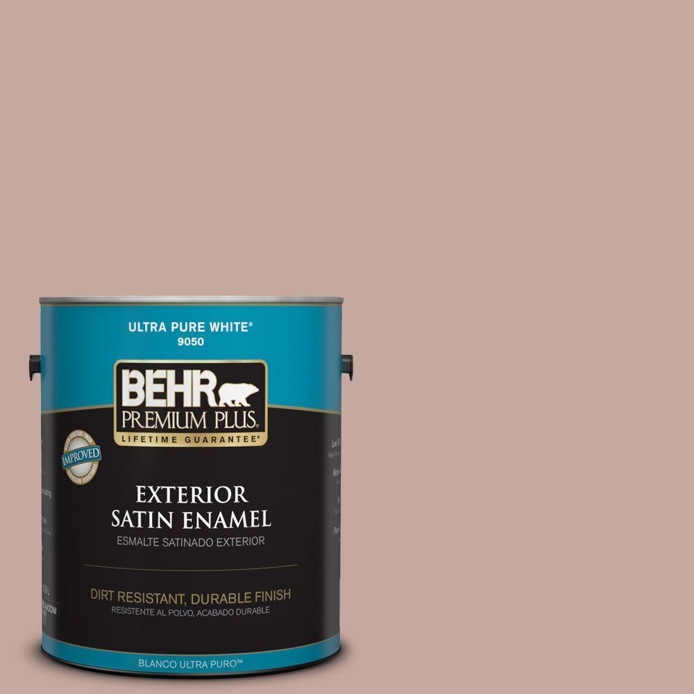 BEHR Premium Plus Home Decorators Collection 1-gal. #HDC-NT-06 Patchwork Pink Satin Enamel Exterior Paint