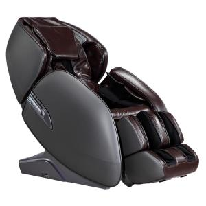 Infinity Meridian Brown L-Track Massage Chair with Body Scanning Technology and Two Memory Programs