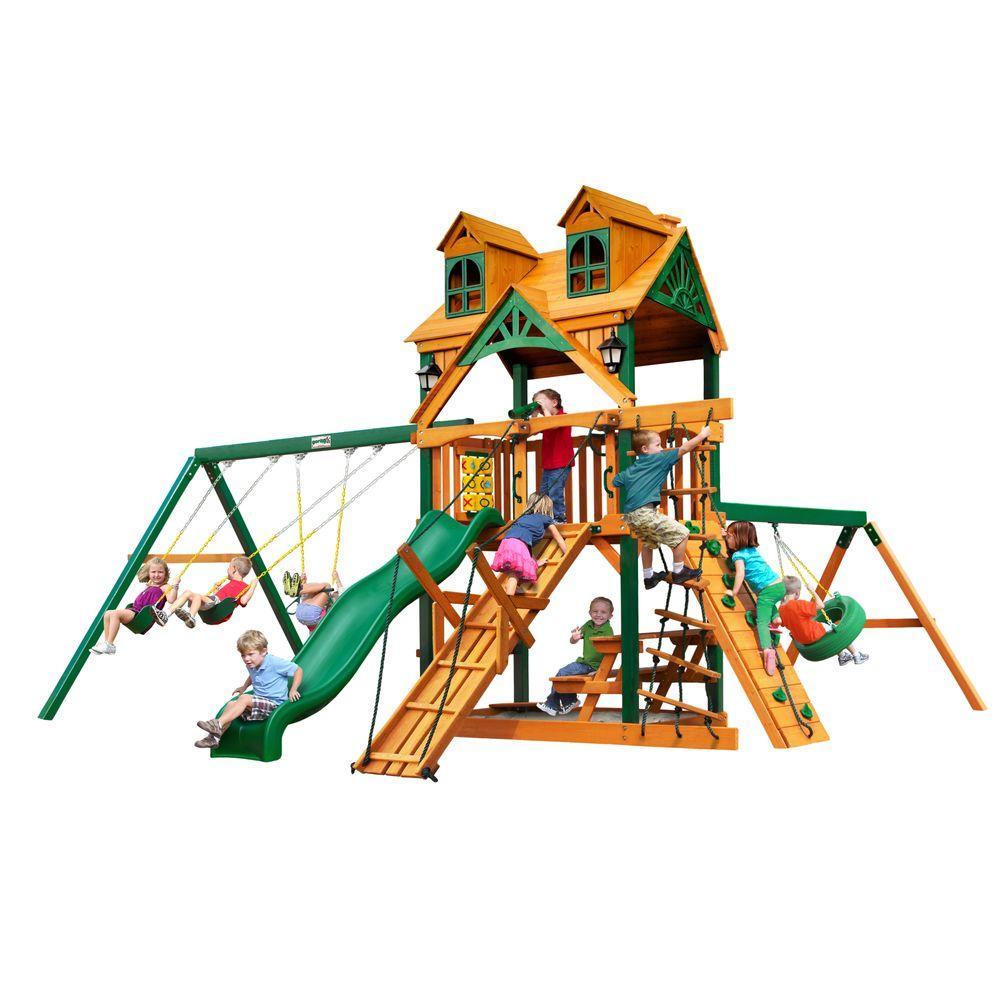 Gorilla Playsets Malibu Frontier Cedar Swing Set