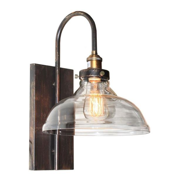 Greenwich 1-Light Bronze and Copper Sconce
