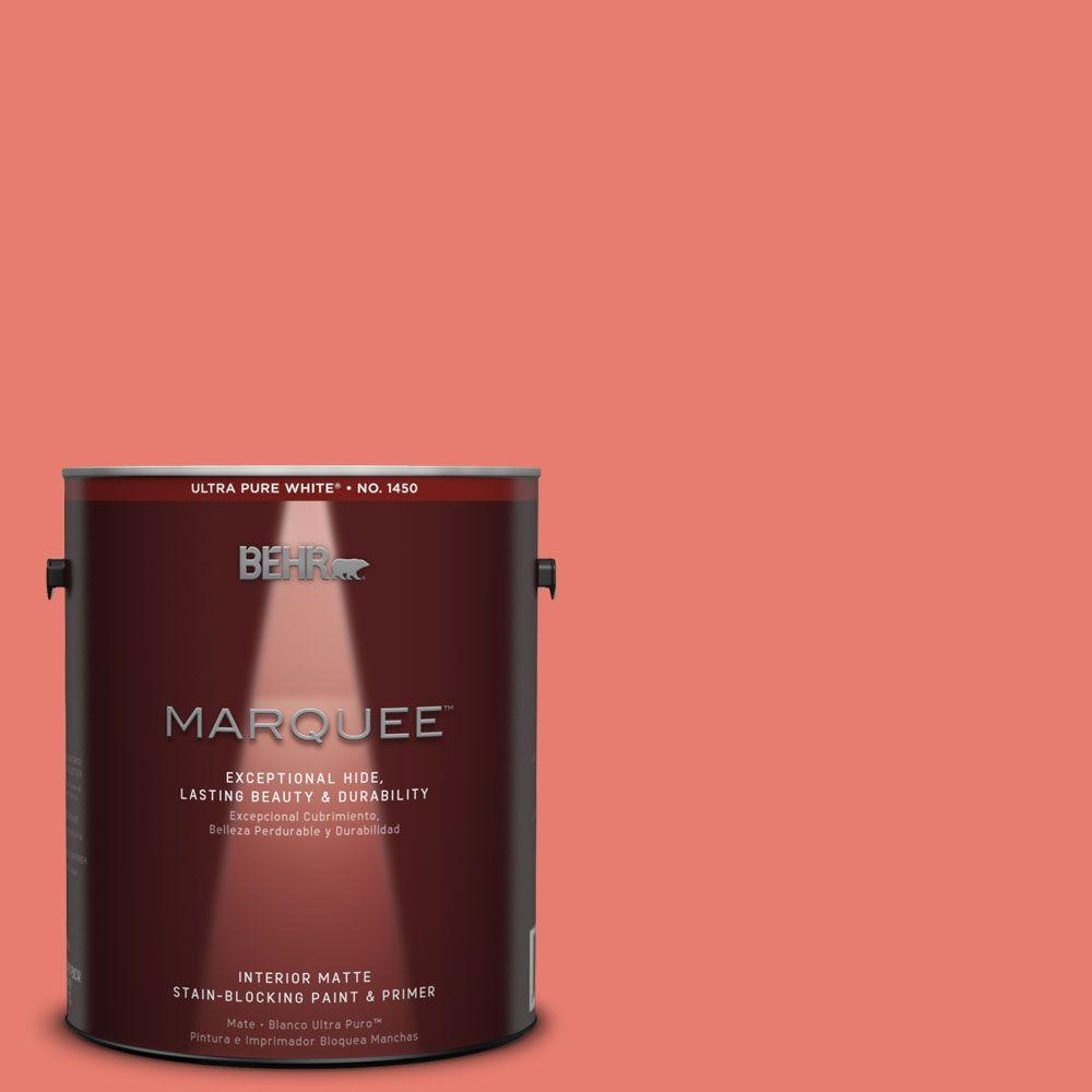BEHR MARQUEE 1 gal. #HDC-SM14-12 Cosmic Coral Matte Interior Paint
