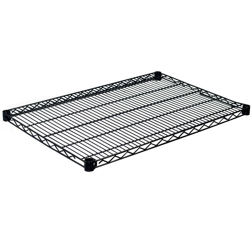1.5 in. H x 36 in. W x 18 in. D Steel Wire Shelf in Black