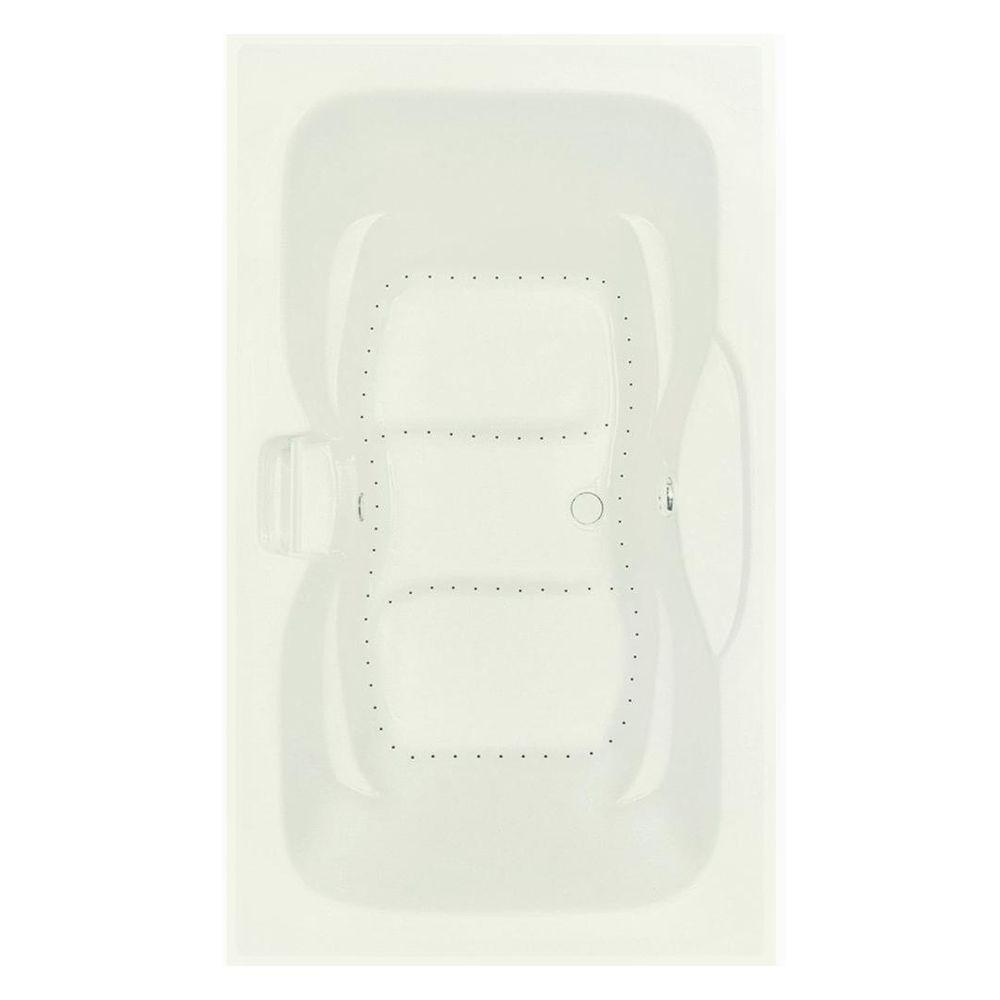 Serenity 1 - 72 in. Acrylic Center Drain Rectangular Drop-In Bathtub