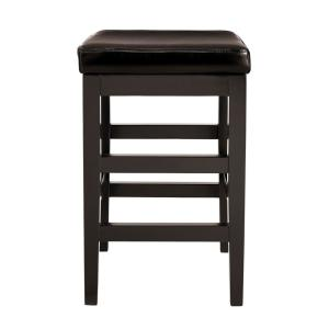 Home Decorators Collection 24 In Black Cushioned Counter Stool