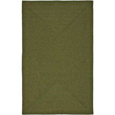 Braided Green 9 ft. x 12 ft. Area Rug