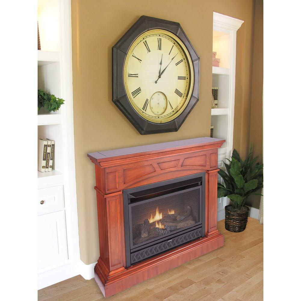 ProCom 44 in. Convertible Vent-Free Propane Gas Fireplace in Heritage Cherry