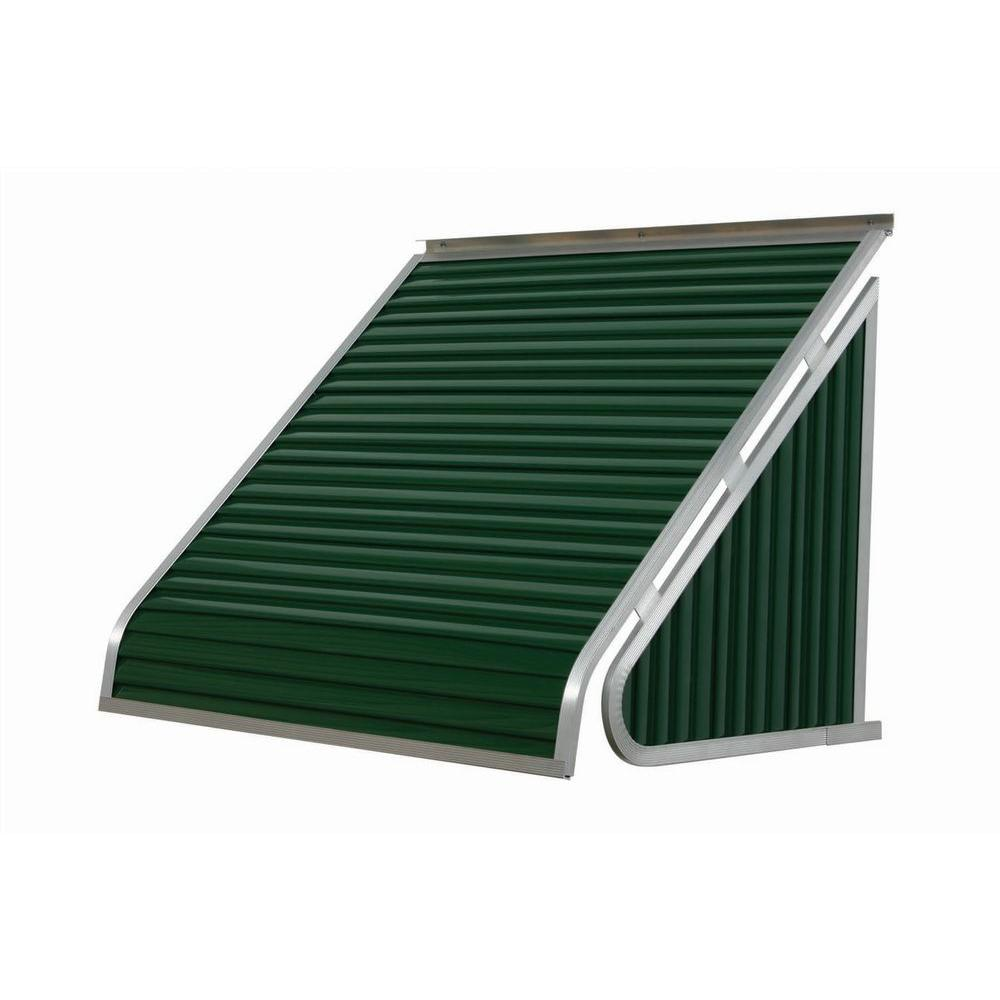 NuImage Awnings 3 ft. 3500 Series Aluminum Window Awning (24 in. H x 20 in. D) in Fern Green