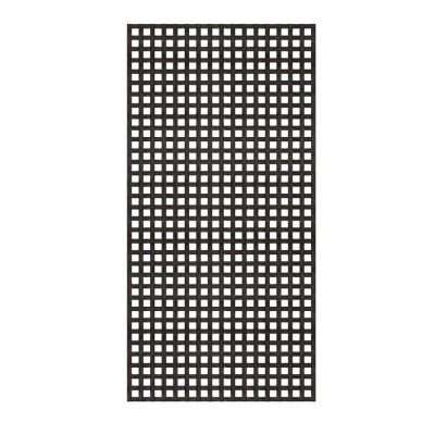4 ft. x 8 ft. Black Privacy Square Vinyl Lattice - Framed