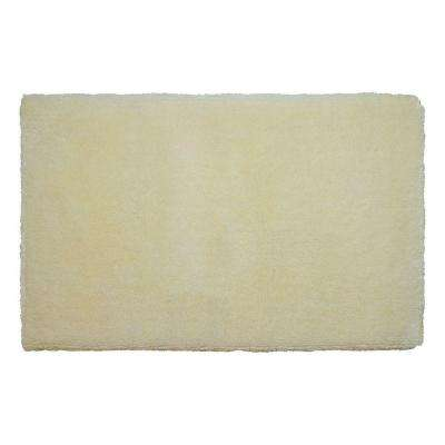 Pearl Plush Banana 17 in. x 24 in. Bath Mat