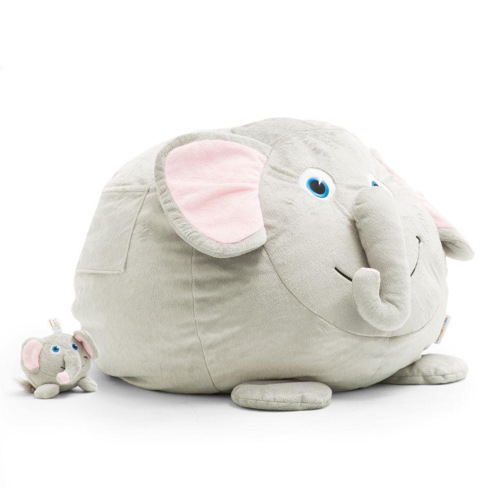 Surprising Emerson The Elephant Cozy Grey Plush Bean Bag Ibusinesslaw Wood Chair Design Ideas Ibusinesslaworg
