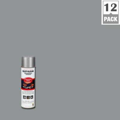 16 oz. M1600 System Precision Line Solvent-Based Silver Inverted Marking Spray Paint (12-Pack)