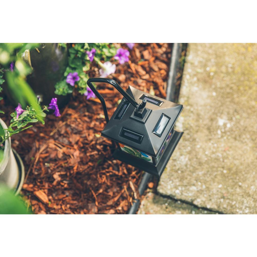 Purple 26-Light Solar Flower Garden Stake Yard Lawn Art Outdoor Home Decor