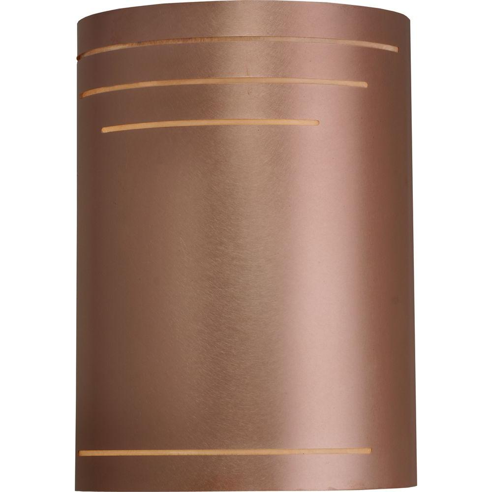 Filament Design 1-Light 12 in. Outdoor Raw Copper Exterior Wall Sconce