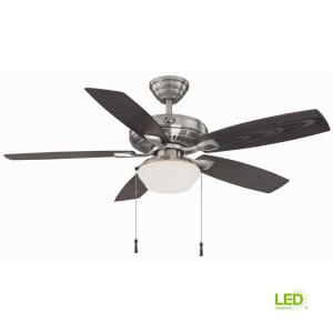 Led Indoor Outdoor Brushed Nickel Ceiling Fan