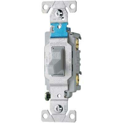 20 Amp 120/277-Volt Side Wire Compact Toggle Switch, Gray