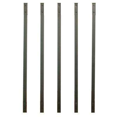 32-1/4 in. x 1 in. Charcoal Fine Textured Aluminum Rectangle Face Mount Deck Railing Baluster (5-Pack)