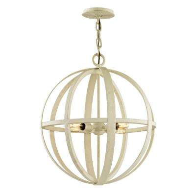 Flatiron 4-Light Gesso White 18.5 in. W Pendant