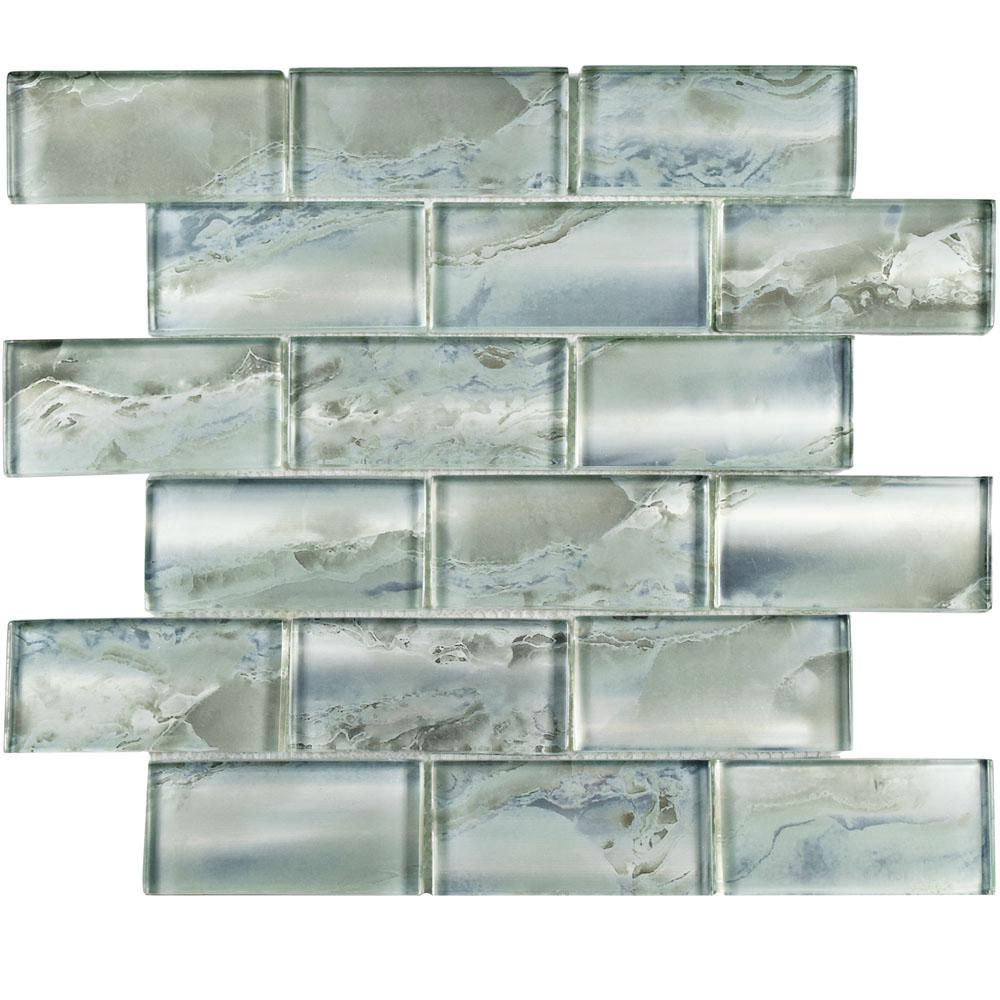 Merola Tile Sterling Super Subway Silver 11 3 4 In X 12 9 Mm Gl Mosaic Gfnssssl The Home Depot
