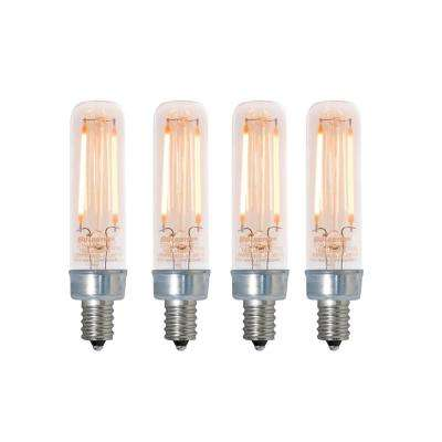 25W Equivalent Amber Light T6 Dimmable LED Filament Light Bulb (4-Pack)