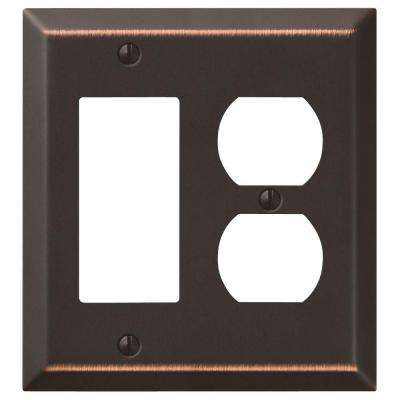 Century 1 Decora and 1 Duplex Combination Wall Plate - Aged Bronze