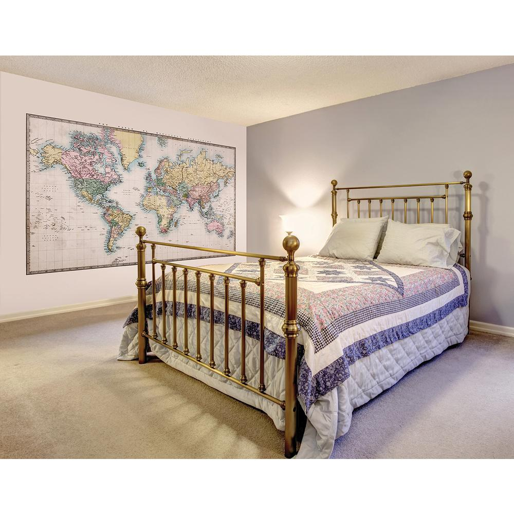 Brewster 118 in x 98 in historic world wall mural for Brewster wall mural