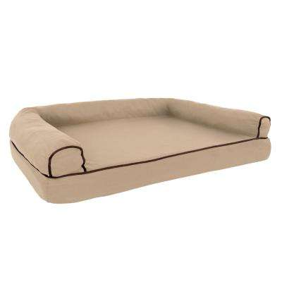 Large Tan Memory Foam Orthopedic Pet Bed