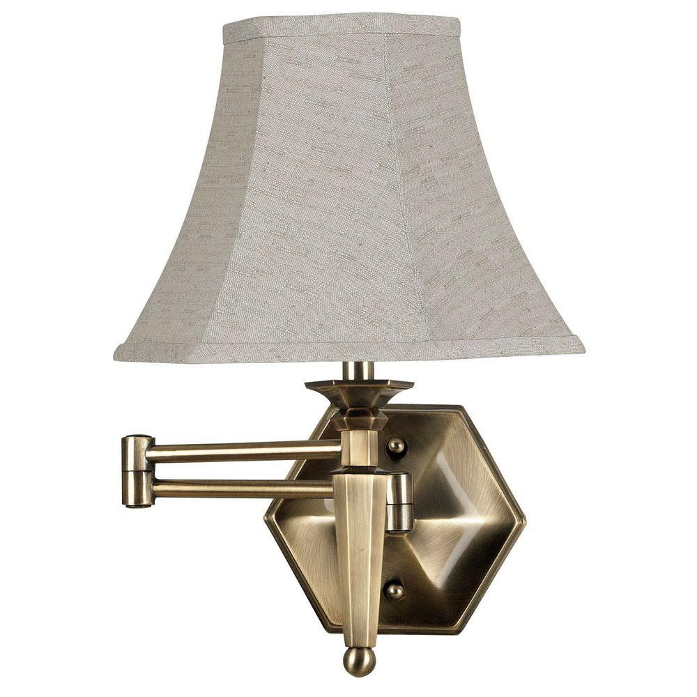 Mackinley Golden Bronze Wall Swing Arm Lamp