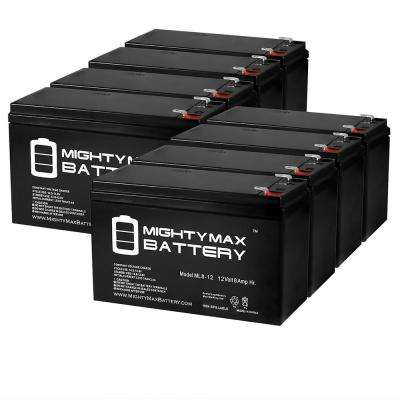 12-Volt 8 Ah SLA (Sealed Lead Acid) AGM Type Replacement Battery for Alarm/Security Systems (8-Pack)