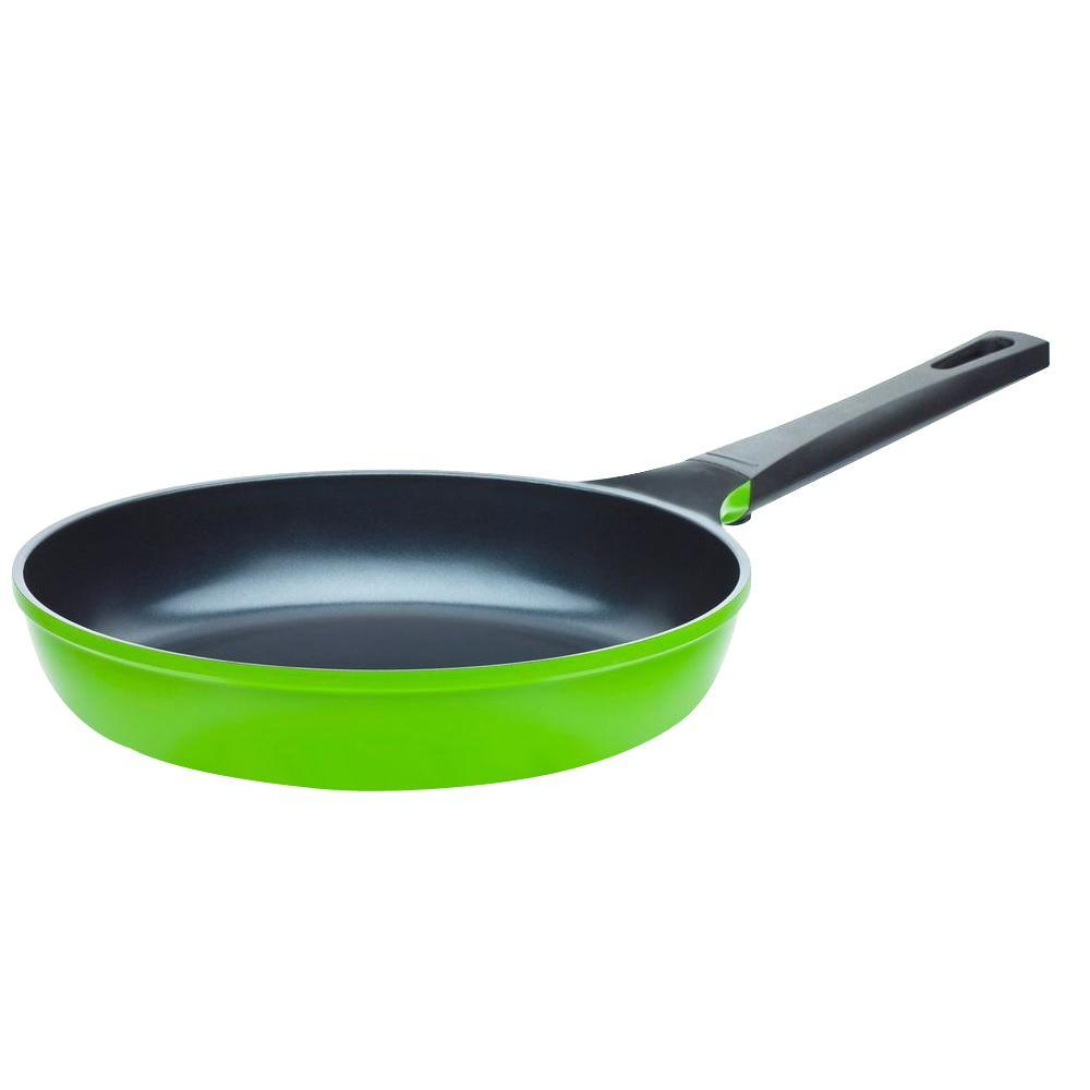 10 in. Green Earth Frying Pan with Smooth Ceramic Non-Stick Coating